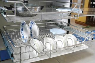 不锈钢光亮线厨房篮子